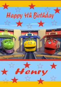 Personalised Chuggington Birthday Card